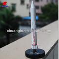 Modelo de cohete, juguete modelo de cohete, resina de réplica en miniatura