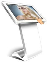 Multimedia Touch Screen Information Kiosk, Supporting Wifi, 3G and RG45
