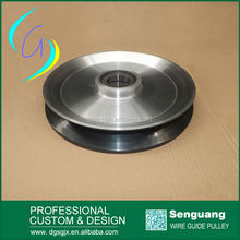 large diameter copper wire guide pulley ,electric wire cable pulley wheel, ceramic coated aluminum pulley