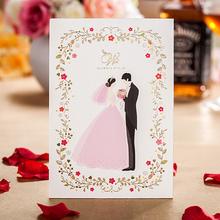 Popular tamanho qualidade laser do convite do casamento