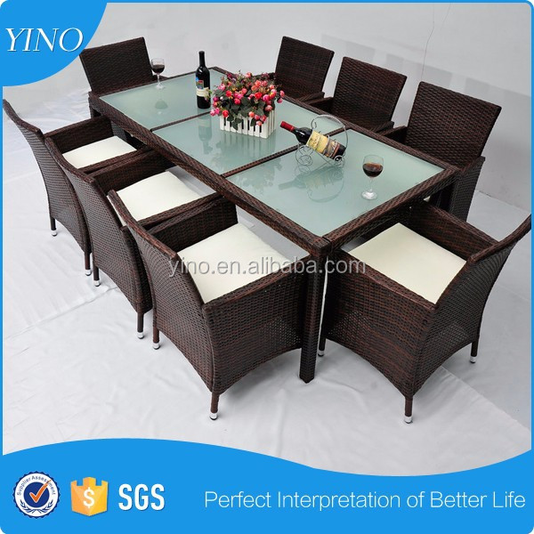 product gs  pcs kd fancy best sell dining chairs and table alumium set outdoor wicker sets sf