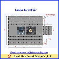cold crack protection truck tarp 18oz lumber tarp 24ftx27ft