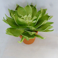 hot selling EVA foam artificial flowers with pot