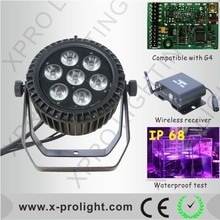 2015 NEW style mini led par can 7pcs 6in1 color mixing UV led slim par outdoor wedding party wash light