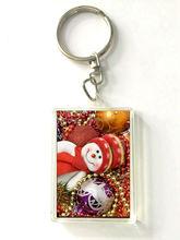 Wholesale hotsale PET 3d lenticular keychain chain