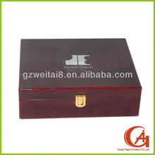 PU leather jewelry box jewelry paper boxes with key lock