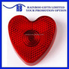 Hot selling logo printed heart shape mini flashing LED warning light for promotion