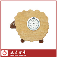 Wholesale Wooden Cute Sheep Table Clock For Kids