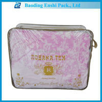 2014 new high quality clear printed bags for blanket packing