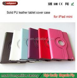 360 Rotation Pu leather cases For ipad mini 2 3 4 For iPad PU Leather Printing Case