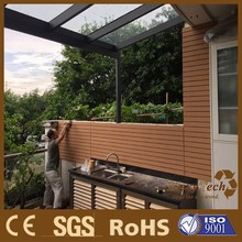 uv resistance composite wood outdoor cladding with optional texture