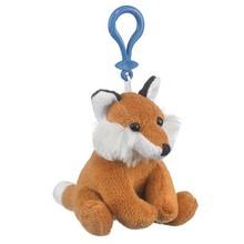 plush stuffed fox keychain , plush keychain fox , plush fox keychain