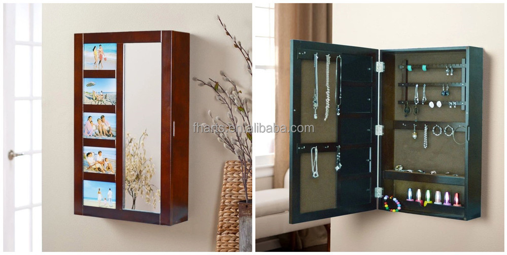 antique armoire murale dressing miroir bijoux cabinet avec. Black Bedroom Furniture Sets. Home Design Ideas