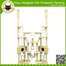 big size cat tree beige color cat tree with ladder perch naturial sisal cat tree pet supplier