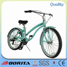 China Borita OEM Cheap 26 inches EV-267 hi-ten Steel Beach Cruiser Bicycle