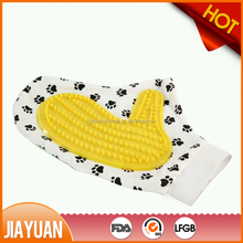 Pet dogs and cats silicon rubber bath gloves