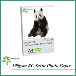PREMIUM paper 190gsm RC Satin /Matte photo paper,Resin coated Inkjet photo paper