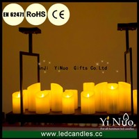Artificial Paraffin Wax Flameless LED Candles for Candelabra