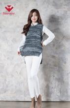 ผู้หญิงพื้นฐานfineveryเสื้อกั๊กเสื้อถักกับแนวคิดเปิดที่ด้านหลังและล่องลอย, สมาร์ท, การออกแบบและสายยางยืด