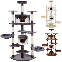 Large cat tree furniture with cat condos