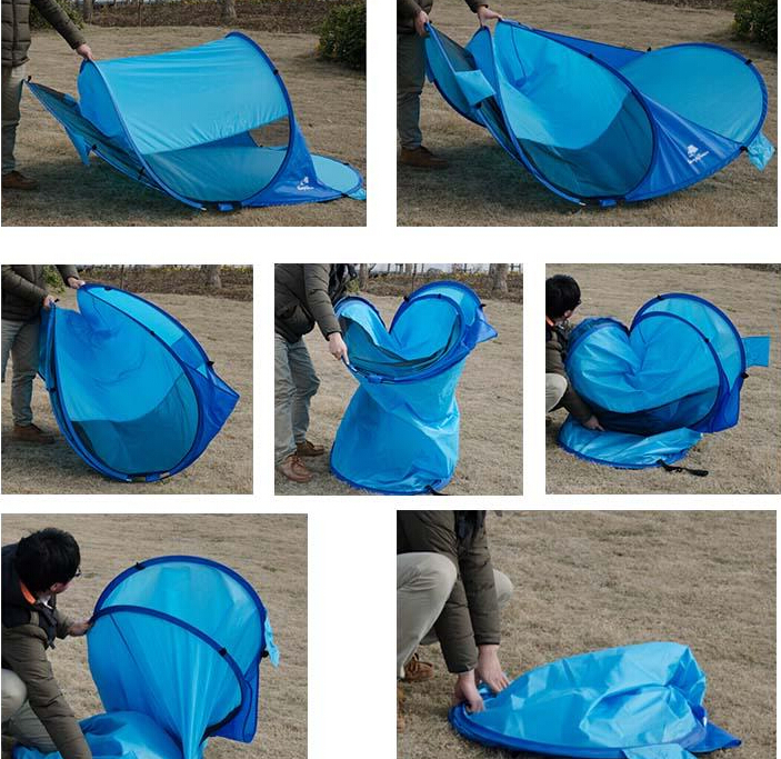 1 2 personne 190 t polyester imperm able pu facile pliage plage pop up tente tente id de produit - Comment replier un bz ...