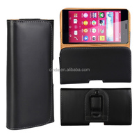 Plain PU Leather Pouch Belt Clip Cover Case Holster For Sony Xperia Z4/Samsung Galaxy S6/S6 Edge/ HTC One M9