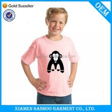 Custom Unisex Children Tee Shirts Casual Printing Cute Logo 100% Cotton