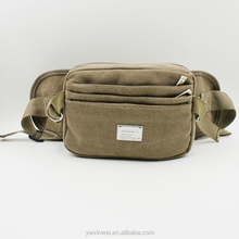 High quality and fashionable canvas waist pack ,JUBILEE large size waist pack for man