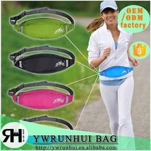 china supplier sports elastic running belt reflective running waist belt