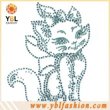 jenny cat design rhinestone hotfix transfer for kids dress