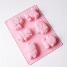 6 Cavity Cartoon Animal Shaped Silicone Mooncake Mold