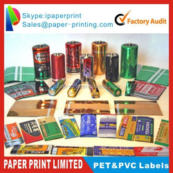shrink sleeves bottle label/colored pvc printed heat shrink clear waterproof labels/shrink label manufacture
