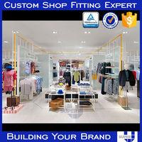 OEM ODM Wooden men clothing shop for display stand