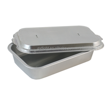 Airline coated lid attached aluminum foil food container