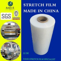 500mm*500m . 20 mic Pallet Stretch film, hand roll or machine roll.