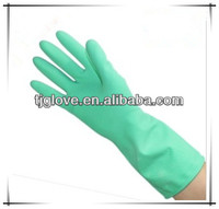 Colourful latex household glove/cleaning glove