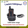 hot sell 1200 meter range rechargeable and waterproof dog shock collar in low price