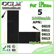 2015 new Best Quality Reasonable Price battery For Iphone 5 Battery Replacement