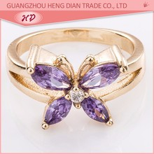purple zirconia new design latest gold finger ring designs