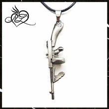 Blue Chip Unlimited - Masculine Stainless Steel Tommy Gun Pendant