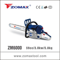 garden tool 59cc 3.0kW ZM6000 portable wood cutting machine for tree pruning