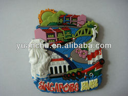 custom 3d soft pvc fridge magnet /pvc souvenir fridge magnet