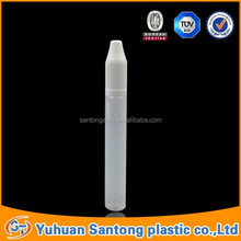 15ml pen shape pe e-liquid bottle with long thin tip and childproof cap