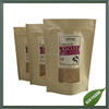2016 newly custom printing foil lined kraft paper bags with window for organic food