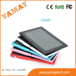 Q8 7inch Allwinner boxchip A33 quad core 800*480pix TFT screen 512MB/4GB storage android tablet pc very low cost