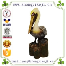 2015 chinese factory custom made handmade carved hot new products resin fake bird of Nautical Pelican