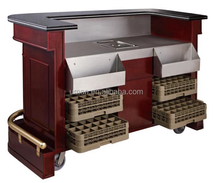 Mobile portable bar counter mobile bar for Bar movil de madera