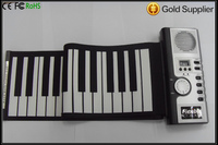 47 61 Keys USB Portable Roll Up Electronic Piano Silicone Keyboard with play,record and edit,support Midi funct