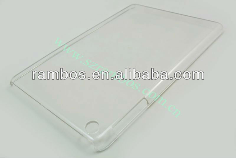 Hot crystal clear hard case pour iPad mini pour iPad 4