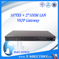 Support PPPOE/DHCP server 16 FXS port RJ11 VoIP Gateway ATA products call center